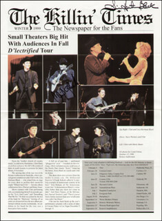CLINT BLACK - ARTICLE SIGNED CO-SIGNED BY: LISA HARTMAN