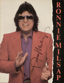 RONNIE MILSAP - PROGRAM SIGNED