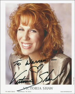 VICTORIA SHAW - AUTOGRAPHED INSCRIBED PHOTOGRAPH