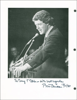 PRESIDENT WILLIAM J. BILL CLINTON - AUTOGRAPHED INSCRIBED PHOTOGRAPH 12/11/1980