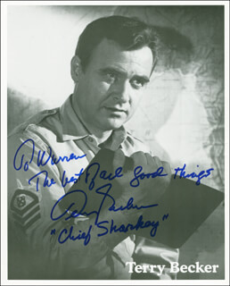 TERRY BECKER - AUTOGRAPHED INSCRIBED PHOTOGRAPH