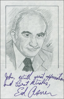 JOHN RAITT - INSCRIBED ORIGINAL ART SIGNED CO-SIGNED BY: ED ASNER