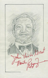 JOHN RAITT - INSCRIBED ORIGINAL ART SIGNED CO-SIGNED BY: REDD FOXX