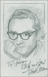 JOHN RAITT - INSCRIBED ORIGINAL ART SIGNED CO-SIGNED BY: STEVE ALLEN