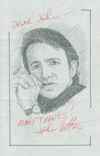 JOHN RAITT - INSCRIBED ORIGINAL ART SIGNED CO-SIGNED BY: JOHN RITTER