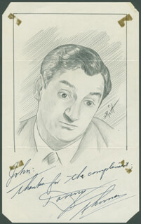 JOHN RAITT - INSCRIBED ORIGINAL ART SIGNED CO-SIGNED BY: DANNY THOMAS