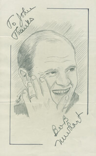 JOHN RAITT - INSCRIBED ORIGINAL ART SIGNED CO-SIGNED BY: BOB NEWHART