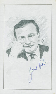 Autographs: JACK PAAR - ORIGINAL ART SIGNED CO-SIGNED BY: JOHN RAITT