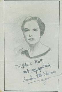 JOHN RAITT - INSCRIBED ORIGINAL ART SIGNED CO-SIGNED BY: CORNELIA OTIS SKINNER