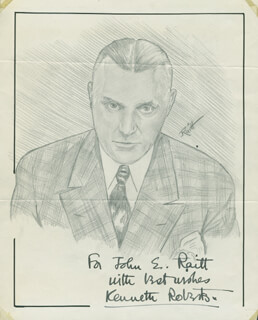 JOHN RAITT - INSCRIBED ORIGINAL ART SIGNED CO-SIGNED BY: KENNETH ROBERTS