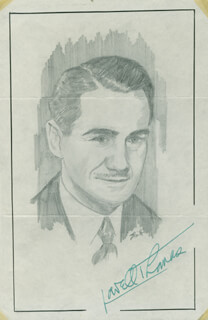 JOHN RAITT - ORIGINAL ART SIGNED CO-SIGNED BY: LOWELL THOMAS