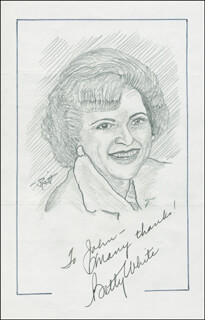 JOHN RAITT - INSCRIBED ORIGINAL ART SIGNED CO-SIGNED BY: BETTY WHITE