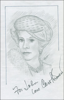 JOHN RAITT - INSCRIBED ORIGINAL ART SIGNED CO-SIGNED BY: CAROL BURNETT