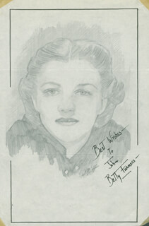 Autographs: BETTY FURNESS - INSCRIBED ORIGINAL ART SIGNED CO-SIGNED BY: JOHN RAITT
