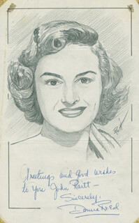 JOHN RAITT - INSCRIBED ORIGINAL ART SIGNED CO-SIGNED BY: DONNA REED