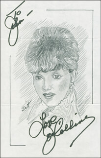JOHN RAITT - INSCRIBED ORIGINAL ART SIGNED CO-SIGNED BY: JOAN COLLINS