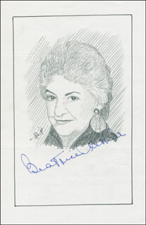 Autographs: BEATRICE ARTHUR - ORIGINAL ART SIGNED CO-SIGNED BY: JOHN RAITT
