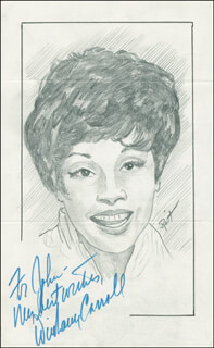 JOHN RAITT - INSCRIBED ORIGINAL ART SIGNED CO-SIGNED BY: DIAHANN CARROLL