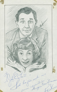 JOHN RAITT - INSCRIBED ORIGINAL ART SIGNED CO-SIGNED BY: IMOGENE COCA, KING DONOVAN