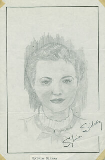 JOHN RAITT - ORIGINAL ART SIGNED CO-SIGNED BY: SYLVIA SIDNEY