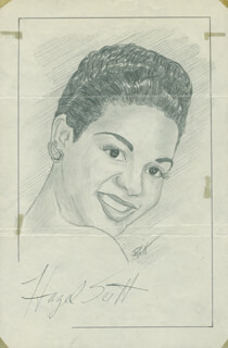 JOHN RAITT - ORIGINAL ART SIGNED CO-SIGNED BY: HAZEL SCOTT