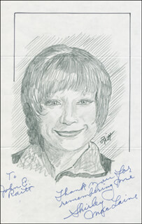 JOHN RAITT - INSCRIBED ORIGINAL ART SIGNED CO-SIGNED BY: SHIRLEY MacLAINE