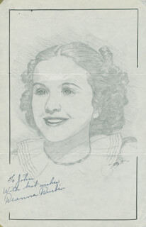 JOHN RAITT - INSCRIBED ORIGINAL ART SIGNED CO-SIGNED BY: DEANNA DURBIN