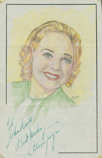 JOHN RAITT - INSCRIBED ORIGINAL ART SIGNED CO-SIGNED BY: ALICE FAYE