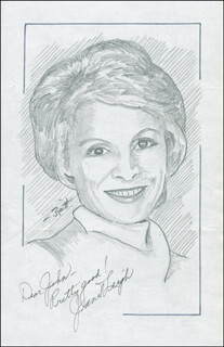 JOHN RAITT - INSCRIBED ORIGINAL ART SIGNED CO-SIGNED BY: JANET LEIGH
