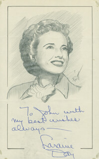 JOHN RAITT - INSCRIBED ORIGINAL ART SIGNED CO-SIGNED BY: LARAINE DAY