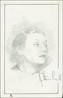 JOHN RAITT - ORIGINAL ART SIGNED CO-SIGNED BY: KATHARINE CORNELL