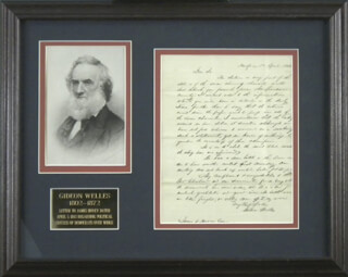 GIDEON WELLES - AUTOGRAPH LETTER SIGNED 04/05/1842  - HFSID 298428
