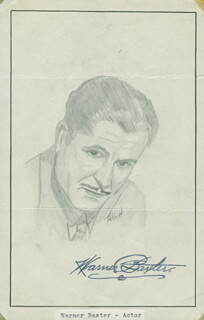 JOHN RAITT - ORIGINAL ART SIGNED CO-SIGNED BY: WARNER BAXTER