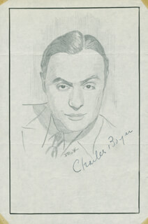 JOHN RAITT - ORIGINAL ART SIGNED CO-SIGNED BY: CHARLES BOYER