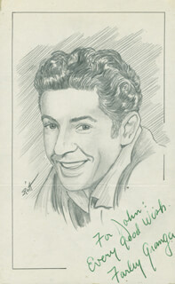 JOHN RAITT - INSCRIBED ORIGINAL ART SIGNED CO-SIGNED BY: FARLEY GRANGER