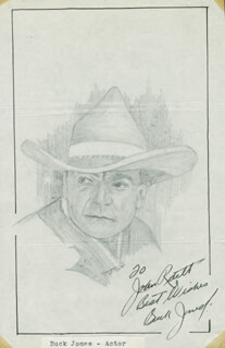 JOHN RAITT - INSCRIBED ORIGINAL ART SIGNED CO-SIGNED BY: BUCK JONES