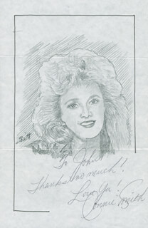 JOHN RAITT - INSCRIBED ORIGINAL ART SIGNED CO-SIGNED BY: CONNIE SMITH