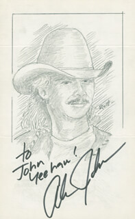 JOHN RAITT - INSCRIBED ORIGINAL ART SIGNED CO-SIGNED BY: ALAN JACKSON