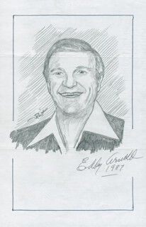 JOHN RAITT - INSCRIBED ORIGINAL ART SIGNED 1987 CO-SIGNED BY: EDDY ARNOLD