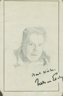 JOHN RAITT - ORIGINAL ART SIGNED CO-SIGNED BY: NELSON EDDY