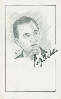 Autographs: GEORGE C. WALLACE - ORIGINAL ART SIGNED CO-SIGNED BY: JOHN RAITT