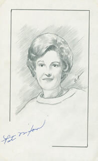 Autographs: FIRST LADY PATRICIA R. NIXON - ORIGINAL ART SIGNED CO-SIGNED BY: JOHN RAITT