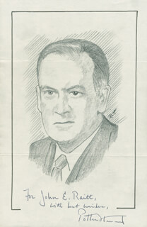 Autographs: ASSOCIATE JUSTICE POTTER STEWART - ORIGINAL ART SIGNED CO-SIGNED BY: JOHN RAITT