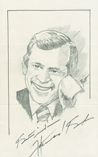 Autographs: HOWARD H. BAKER JR. - ORIGINAL ART SIGNED CO-SIGNED BY: JOHN RAITT