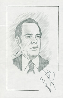Autographs: ROBERT J. BOB DOLE - ORIGINAL ART SIGNED CO-SIGNED BY: JOHN RAITT
