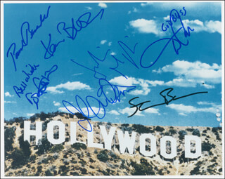 KAREN BLACK - AUTOGRAPHED SIGNED PHOTOGRAPH CO-SIGNED BY: JOHN DAVIDSON, JULIANNA MARGULIES, TOM ATKINS, DANIEL ROEBUCK, STEVE BUSCEMI