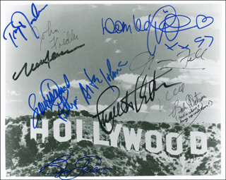 DOM DELUISE - AUTOGRAPHED SIGNED PHOTOGRAPH CO-SIGNED BY: NORMAN FELL, JOHN FIEDLER, TROY DONAHUE, BEVERLY GARLAND, ARTE JOHNSON, LOU DIAMOND PHILLIPS, BOBS WATSON
