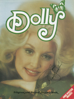 DOLLY PARTON - MAGAZINE COVER SIGNED