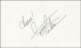 FORREST TUCKER - AUTOGRAPH SENTIMENT SIGNED