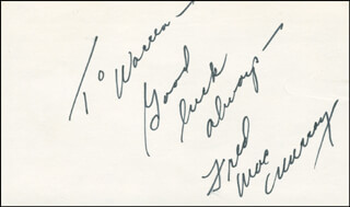 FRED MacMURRAY - AUTOGRAPH NOTE SIGNED